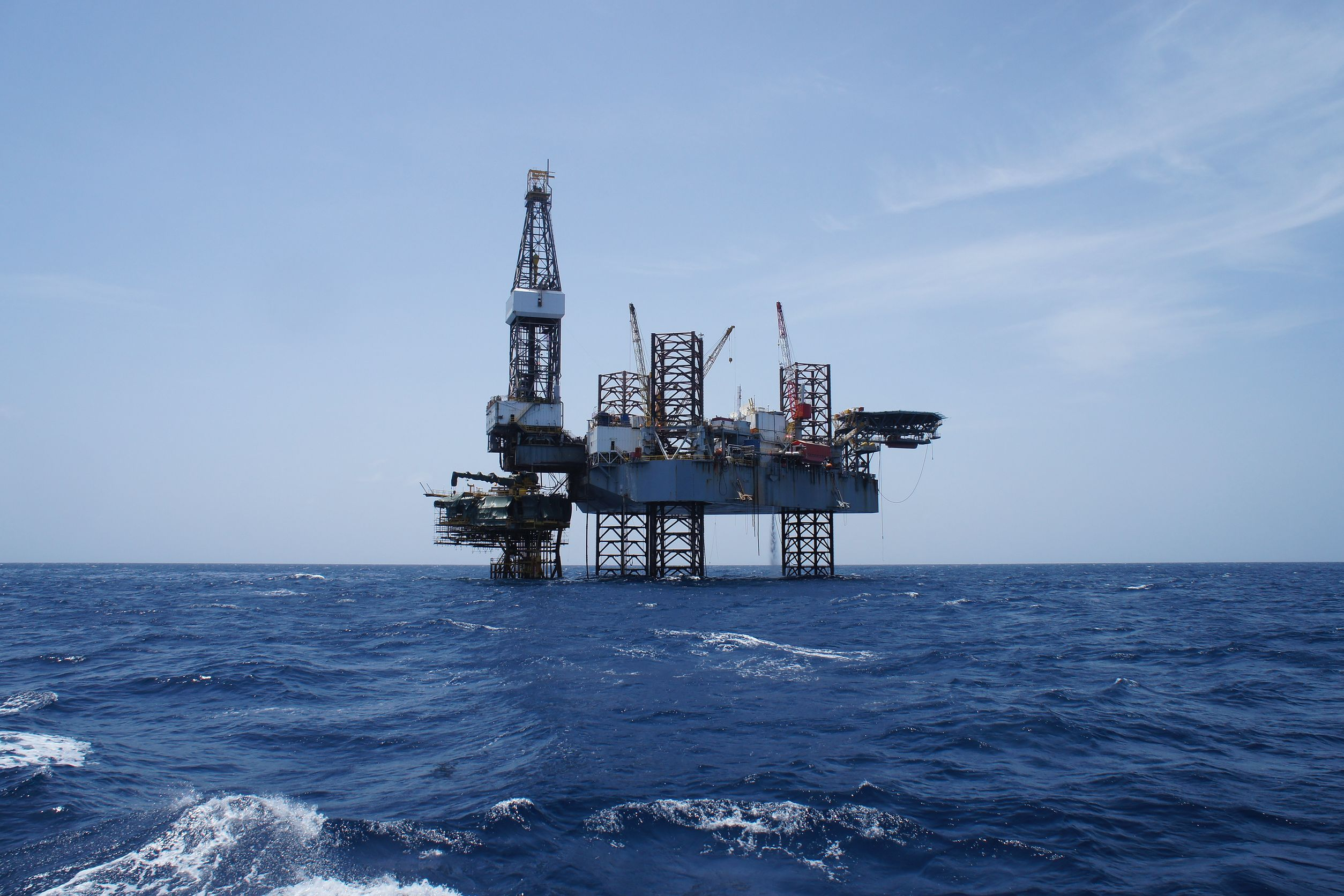 Oil drilling set up in the sea VED Technip.