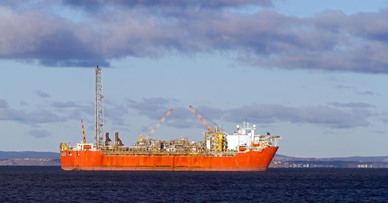 Technical Oil drilling in the sea.